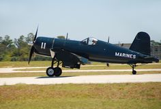 Aeroplano del Corsair dell'annata Fotografia Stock Libera da Diritti