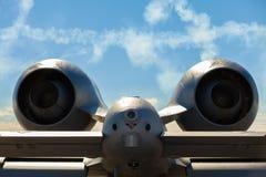 Aeroplano del jet di colpo di fulmine A-10 Fotografie Stock Libere da Diritti