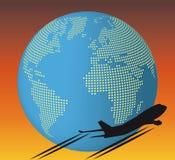 Aeroplano del mondo Fotografie Stock Libere da Diritti