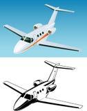 Aeroplano del passeggero del jet Fotografie Stock