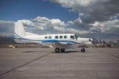 Aeroplano del propulsor del solo motor Imagen de archivo libre de regalías