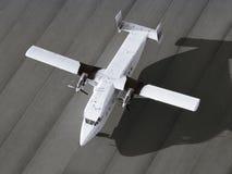 Aeroplano del solo motor listo para sacar Fotografía de archivo libre de regalías