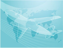 Aeroplano del transporte aéreo Foto de archivo