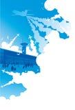 Aeroplano del trasporto di turismo di corsa dell'aeroporto Fotografie Stock Libere da Diritti