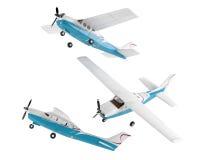 Aeroplano del viejo estilo aislado Imagen de archivo libre de regalías