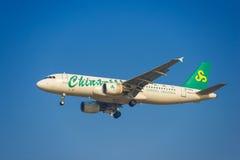 Aeroplano della Cina Spring Airlines Immagini Stock Libere da Diritti