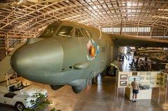 Aeroplano dentro de Darwin Military Museum Fotos de archivo