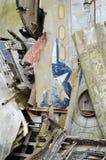 Aeroplano después del desplome Fotografía de archivo libre de regalías