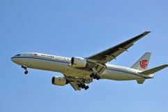 Aeroplano di Air China fotografia stock