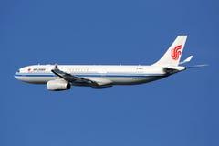 Aeroplano di Air China Airbus A330 Fotografia Stock