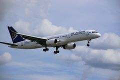Aeroplano di aria Astana immagine stock