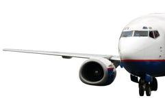 Aeroplano di atterraggio isolato Immagini Stock Libere da Diritti