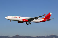 Aeroplano di Avianca Airbus A330-200 Fotografia Stock Libera da Diritti