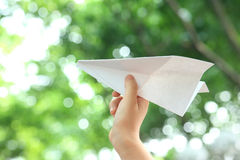 Aeroplano di carta Immagine Stock Libera da Diritti
