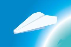 Aeroplano di carta Immagini Stock Libere da Diritti