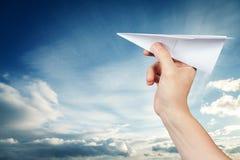 Aeroplano di carta Fotografia Stock