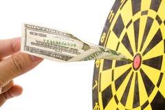 Aeroplano di carta del dollaro Immagine Stock Libera da Diritti