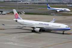 Aeroplano di China Airlines Airbus A330-300 Fotografie Stock