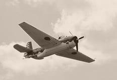 Aeroplano di era della seconda guerra mondiale Fotografia Stock Libera da Diritti