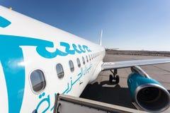 Aeroplano di Jazeera Airways Immagini Stock