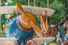 Aeroplano di legno Fotografie Stock