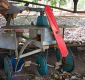 Aeroplano di legno del vecchio piccolo vinatge Fotografie Stock