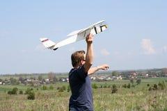 Aeroplano di modello Immagine Stock Libera da Diritti