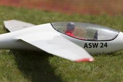 Aeroplano di modello controllato radiofonico in volo Immagine Stock
