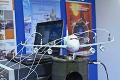 Aeroplano di modello del banco di prova Fotografia Stock