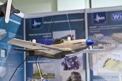 Aeroplano di modello del banco di prova Fotografie Stock