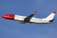 Aeroplano di Norwegian Air Shuttle Boeing 737-800 Fotografia Stock Libera da Diritti