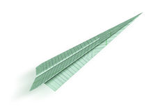 Aeroplano di Origami Immagine Stock Libera da Diritti