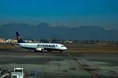 Aeroplano di Ryanair Immagini Stock Libere da Diritti
