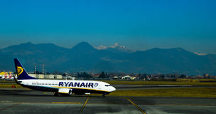 Aeroplano di Ryanair Immagine Stock