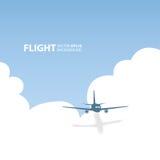 Aeroplano di vettore nel cielo Fotografie Stock Libere da Diritti