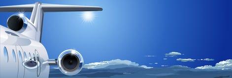 Aeroplano di vettore nel cielo Fotografia Stock Libera da Diritti