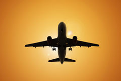 Aeroplano di viaggio æreo Immagini Stock Libere da Diritti
