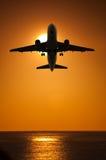 Aeroplano di viaggio æreo Immagine Stock Libera da Diritti