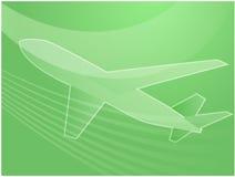 Aeroplano di viaggio æreo Fotografia Stock Libera da Diritti