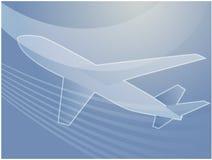 Aeroplano di viaggio æreo   Fotografie Stock