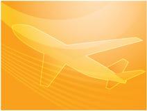 Aeroplano di viaggio æreo Fotografia Stock