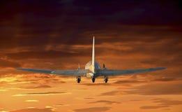 Aeroplano di volo fotografie stock libere da diritti