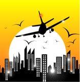 Aeroplano di volo illustrazione di stock