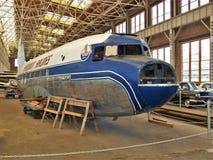 Aeroplano difunto de las líneas aéreas de Piamonte en Carolina Transportation Museum del norte Fotografía de archivo