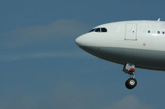 Aeroplano durante il volo Fotografia Stock Libera da Diritti