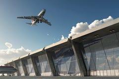 Aeroplano en aeropuerto Fotos de archivo