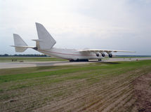 Aeroplano en cauce Imagenes de archivo