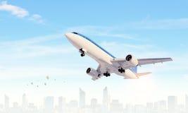 Aeroplano en cielo del día Técnicas mixtas Técnicas mixtas Imagenes de archivo