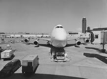 Aeroplano en el aeropuerto de Narita en Japón Foto de archivo libre de regalías