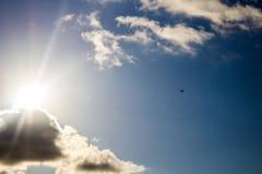 Aeroplano en el aire Foto de archivo